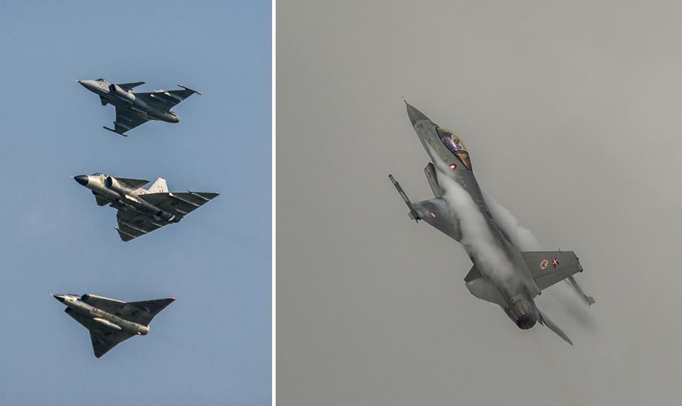 F16 Grippen Draken Viggen NATO Days 2014