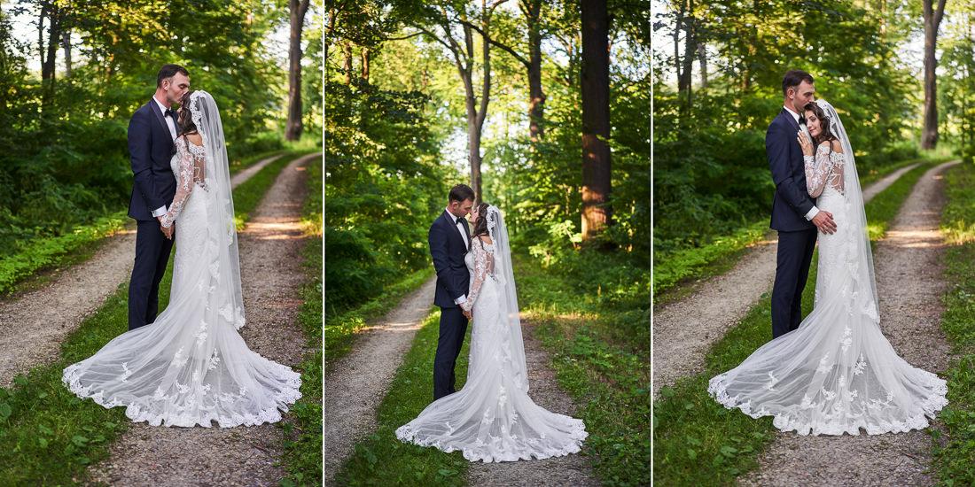 Fotograf Pszczyna, suknia ślubna koronkowa
