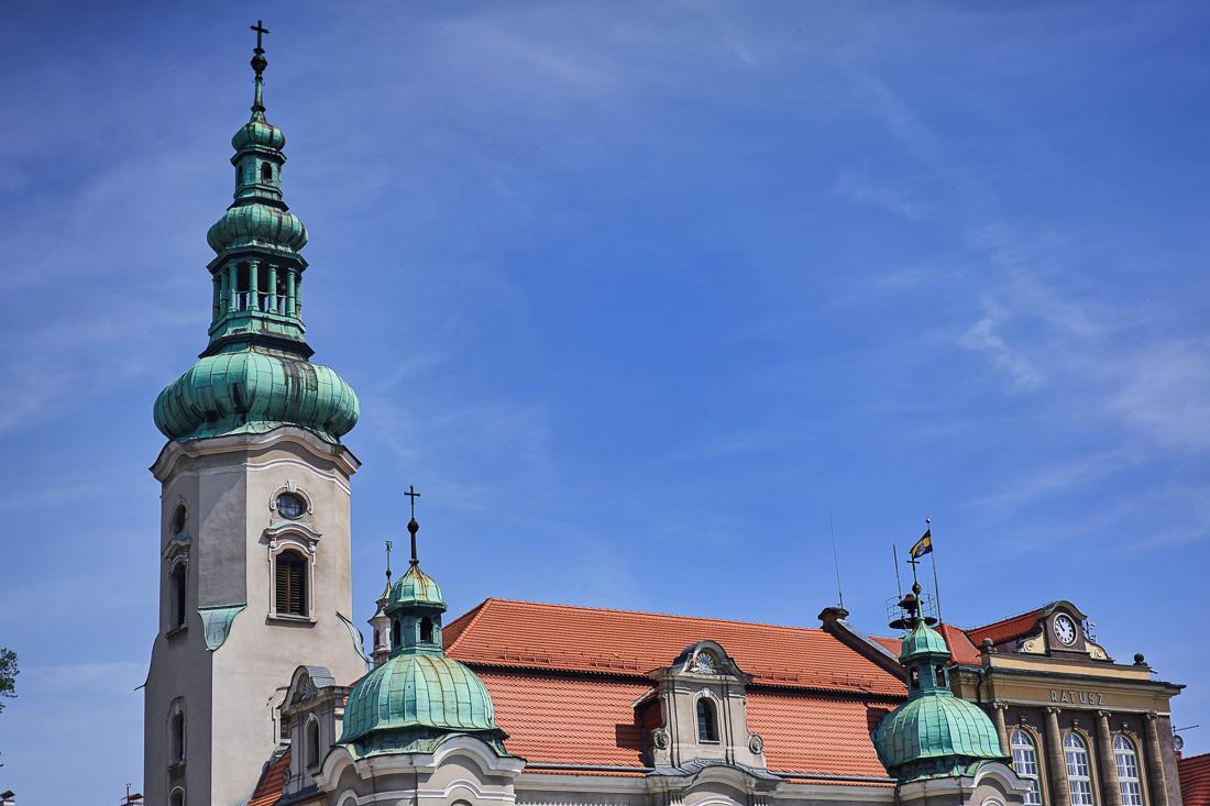 Pszczyna kościół rynek.