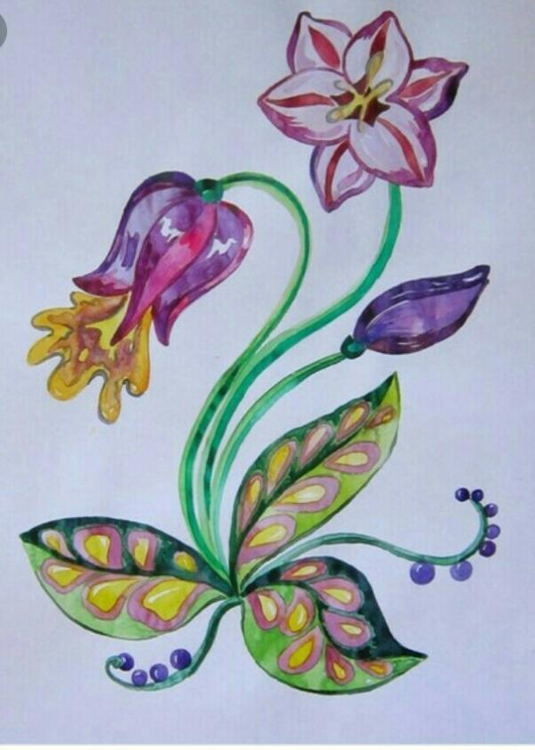 Фантастические цветы картинки для детей рисунки