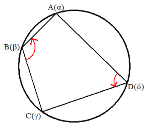 同一円周上の条件