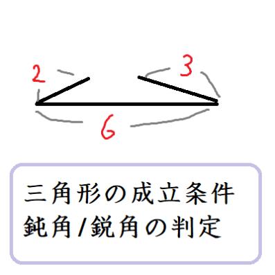 三角形の成立条件と鋭角・直角・鈍角三角形の判定 | 数学の偏差値を ...