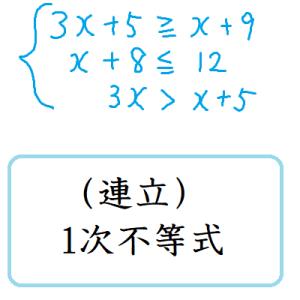 (連立)1次不等式
