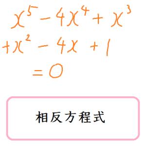 相反方程式