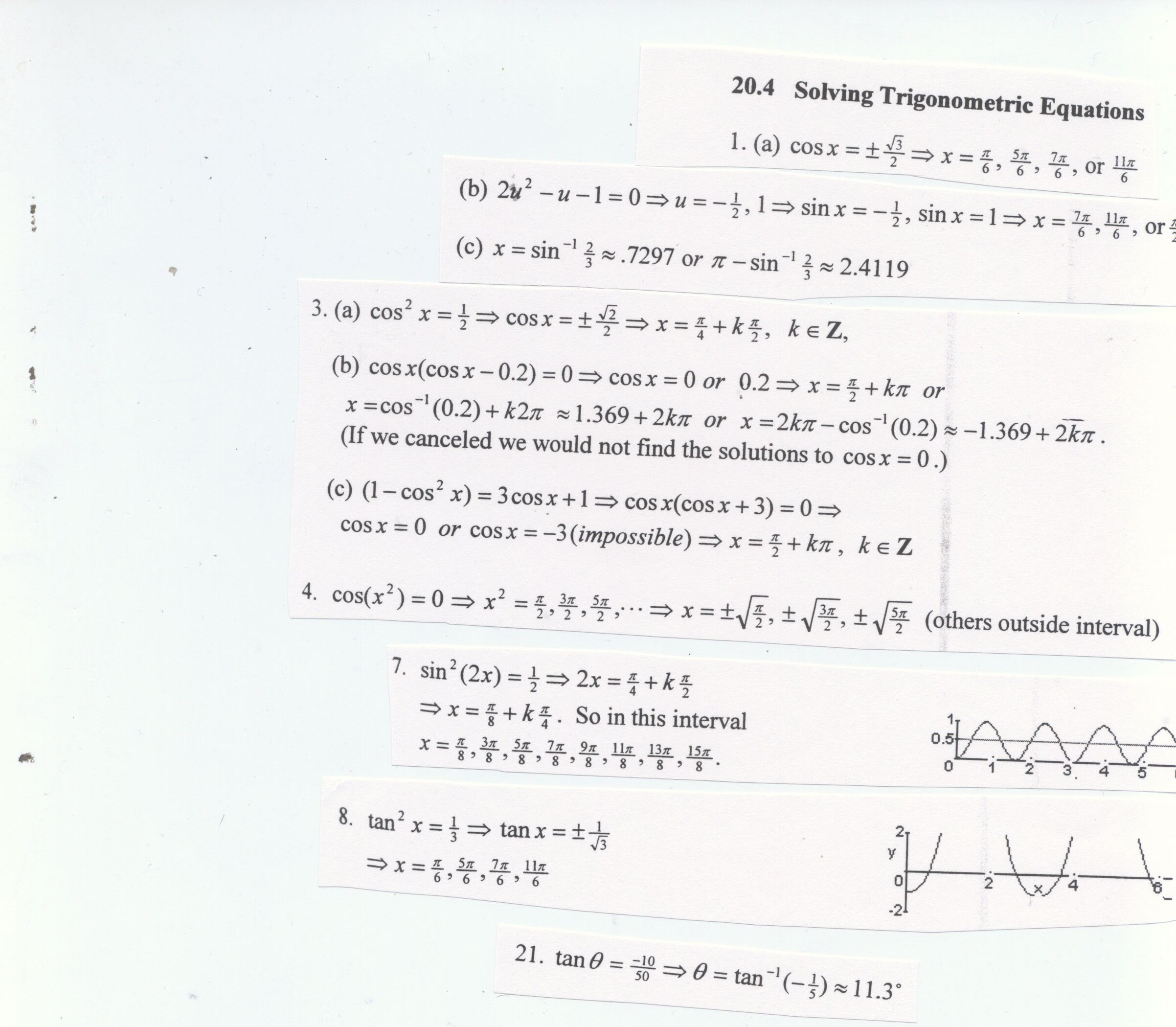 5 3 Practice Solving Trigonometric Equations Worksheet