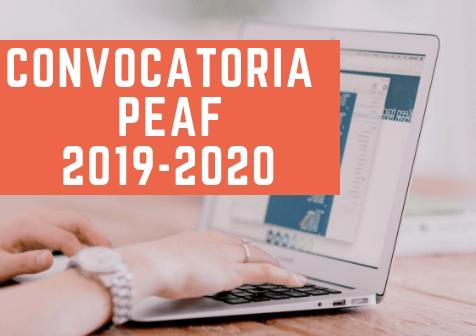 Programa de Experiencias Académicas Formativas (PEAF) 2019 — 2020