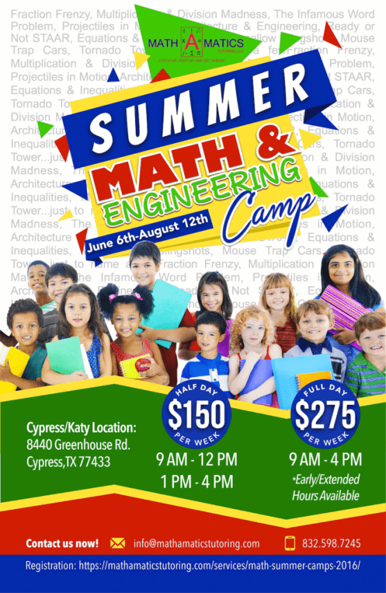 Math-A-Matics Summer Camp 2016