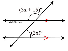 Angles and Parallel Lines Practice  MathBitsNotebook(Geo