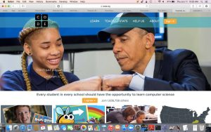 President Obama with Minority Child on Code.Org Website