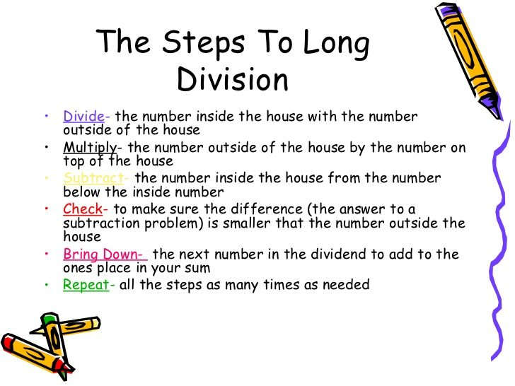 Long division made easy the app and its utility!