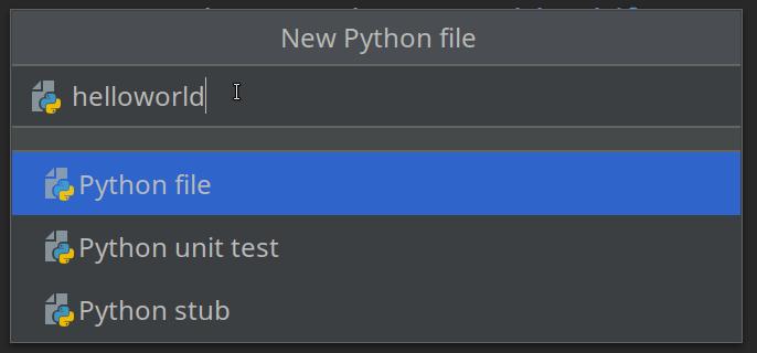 PyCharm - Name a New Python File