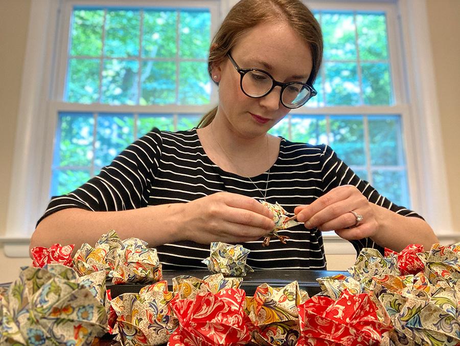 Samantha Pezzimenti at work