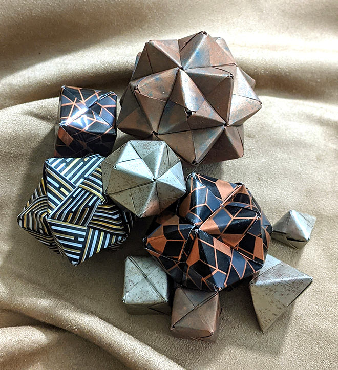 Faye Goldman's origami boulders