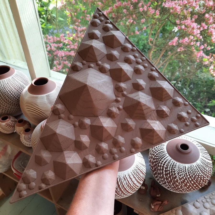 Leatherhard Clay Tile
