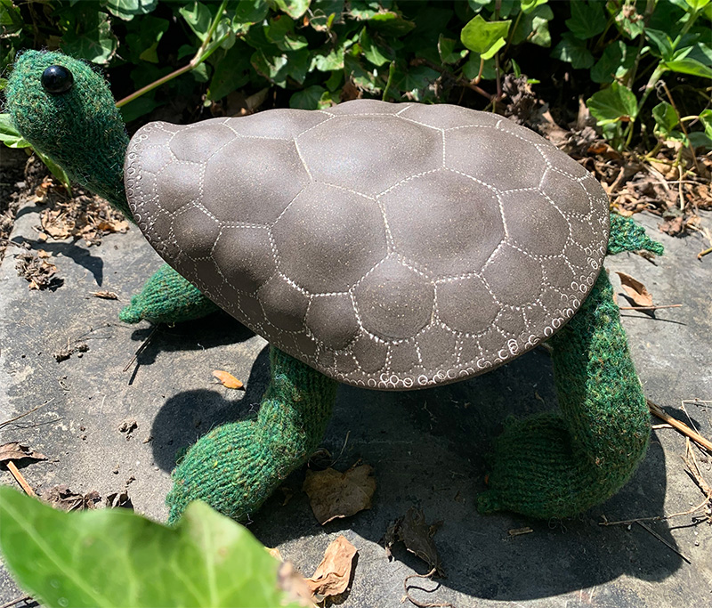Tess the Tortoise, knitted by Kimberly A Roth
