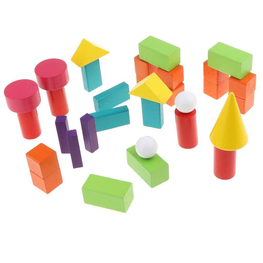 Geometric Solids Block Toy Student Early Math Geometry