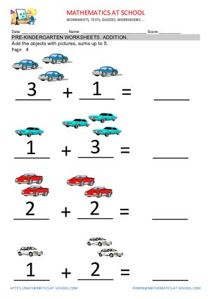 Pre K Worksheets Addition And Subtraction Free Printables