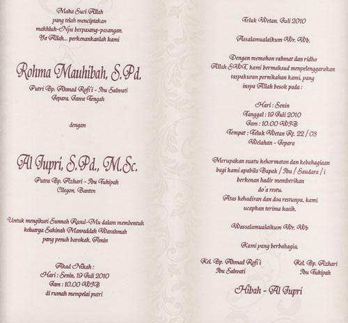 Undangan Pernikahan Bicara Matematika
