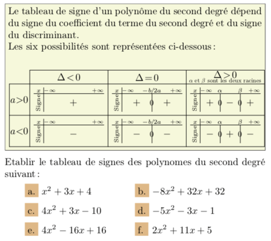 Tutos 1s Second Degre Mathematxlab