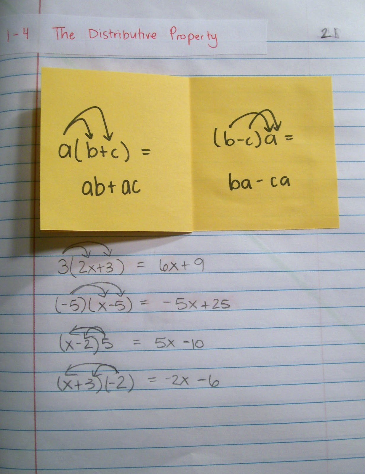 Interactive Notebook Pages Of Late Algebra 1 And Algebra