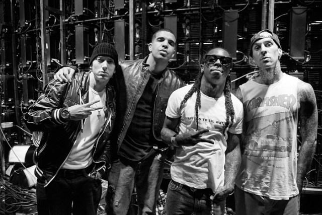 Eminem, Drake, Wayne, Barker