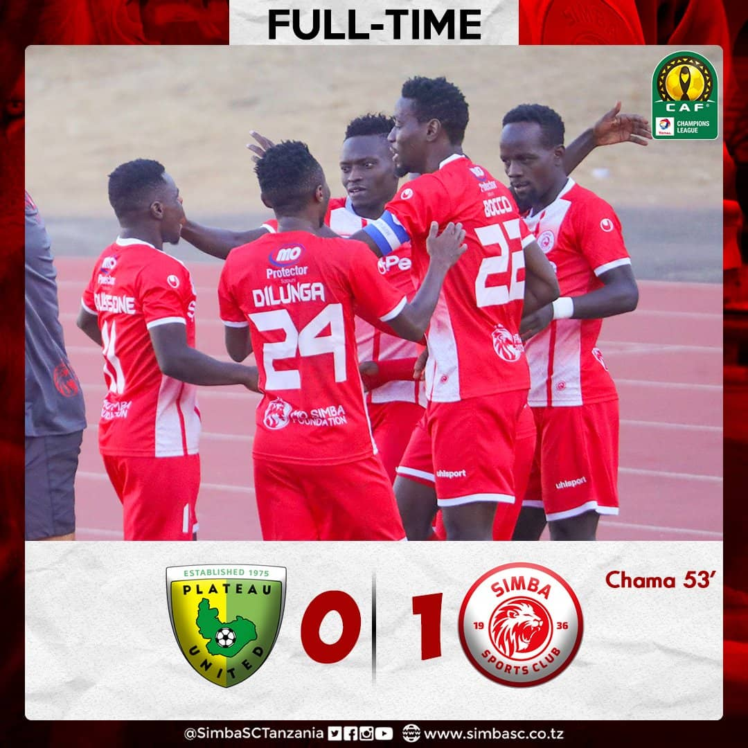 Plateau United slip at home against visiting Simba SC of Tanzania in CAF Champions League Prelim (1)