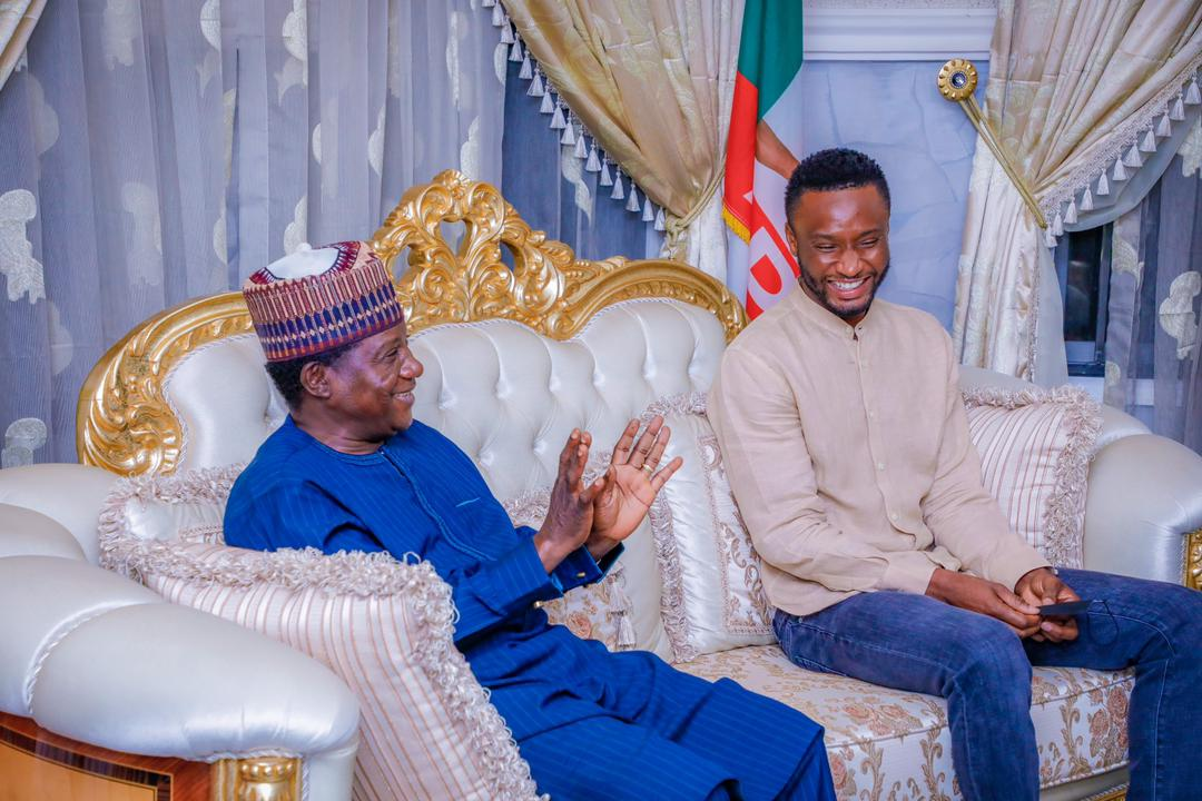 Mikel Obi Visits Lalong in Plateau State (2)