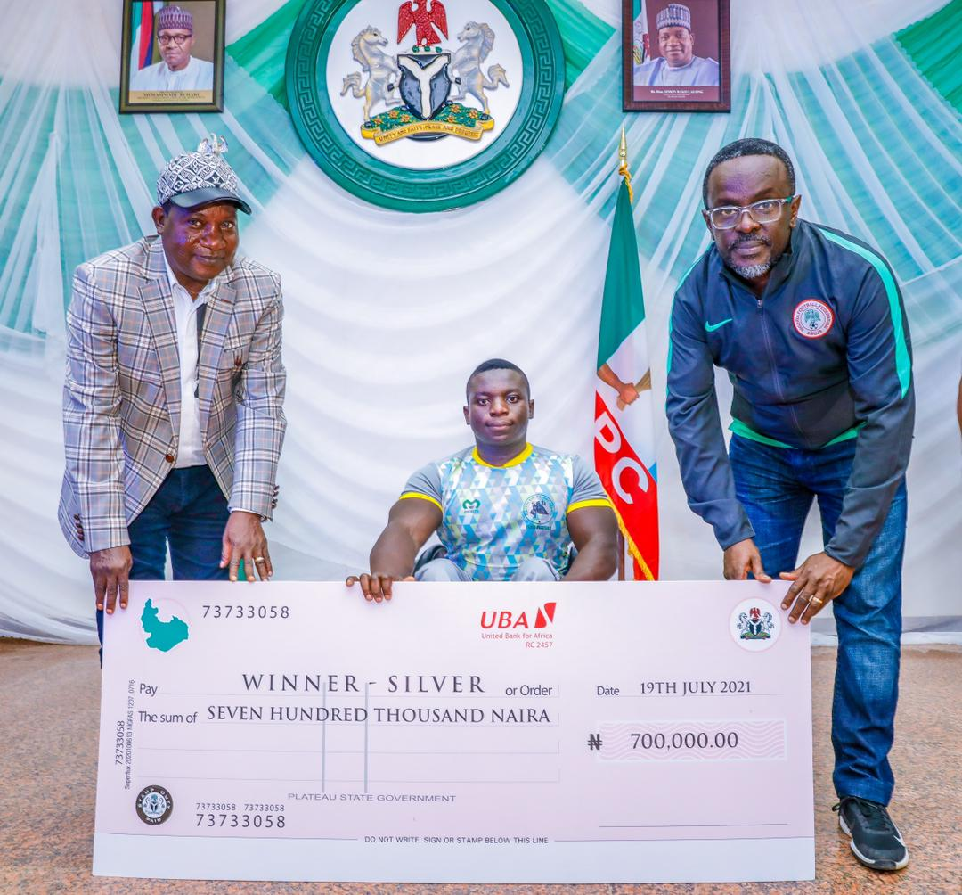 Plateau all gold medalists will receive the sum of 1 million Naira each 1