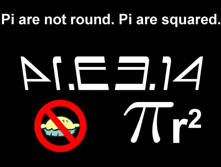 Pi are not round. Pi are squared