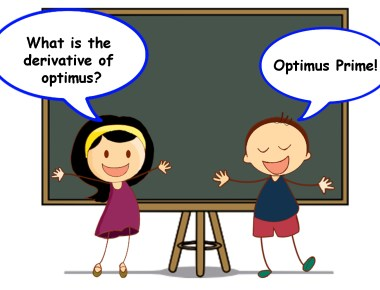 What is the derivative of optimus