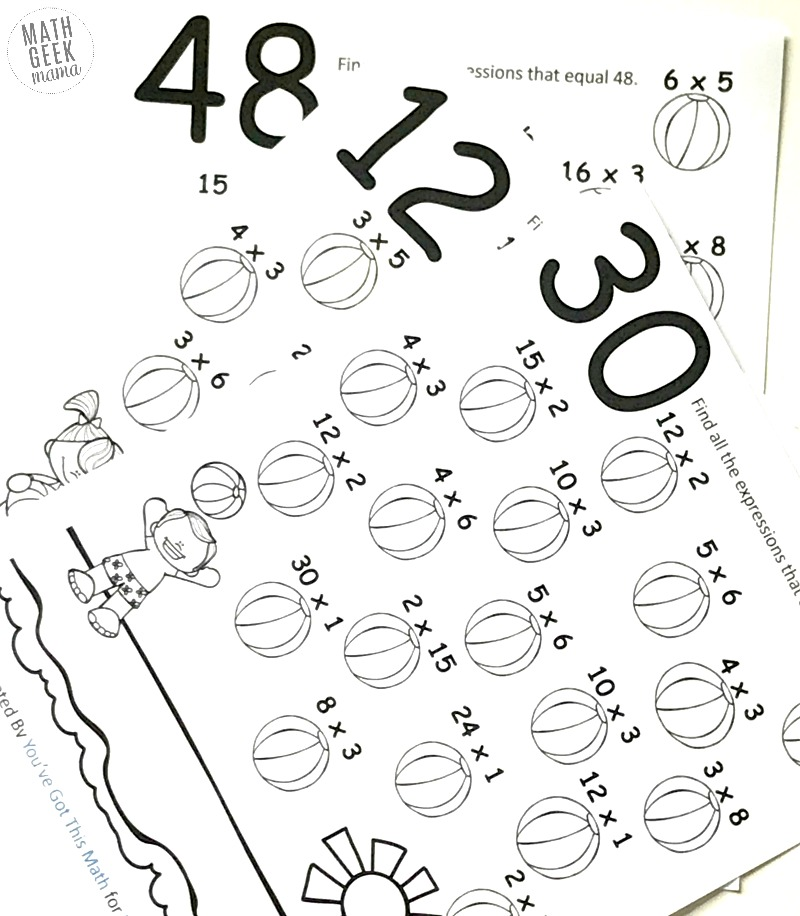 Multiplication Coloring Pages Easy Practice For Kids Free