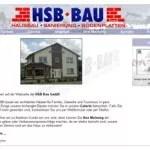 Screenshot Webseite HSB-Bau Stand 2003