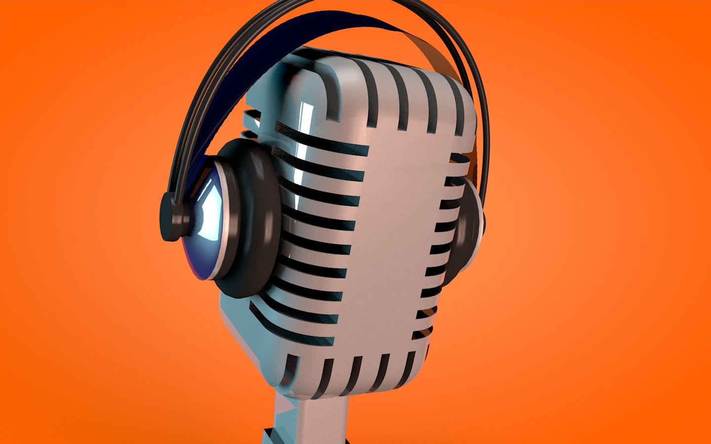 C4D Mikrofon & Hörlurar