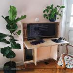 Full Computer Workstation In Desk With Small Footprint Diy