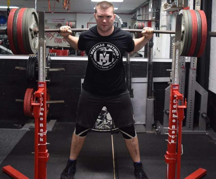 stronger coach ryan mathias squat 545