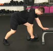 Dumbbell Row Exercise 1