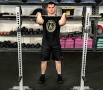 Front Squat Leg Strength Training Exercise 4