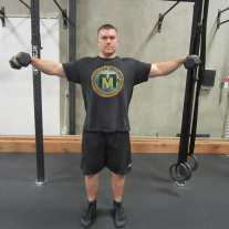 Dumbbell Lateral Raises Exercise 1