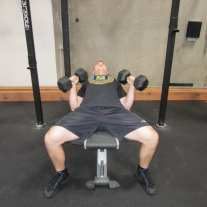 Incline Dumbbell Press Exercise 4