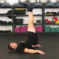 Lying Leg Raises Abs Exercise 4
