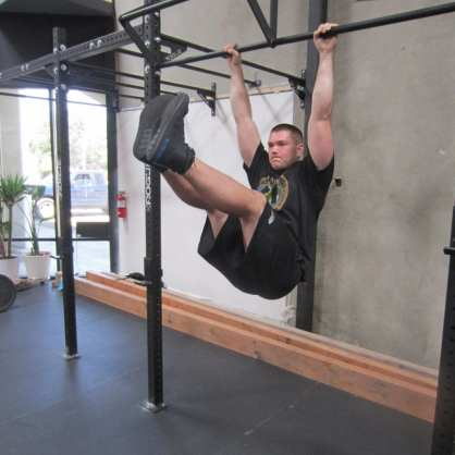 Hanging Leg Raises Abs Exercise 1