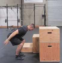 Plyometric Box Jump Exercise 6