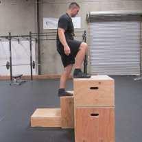 Plyometric Box Jump Exercise 3