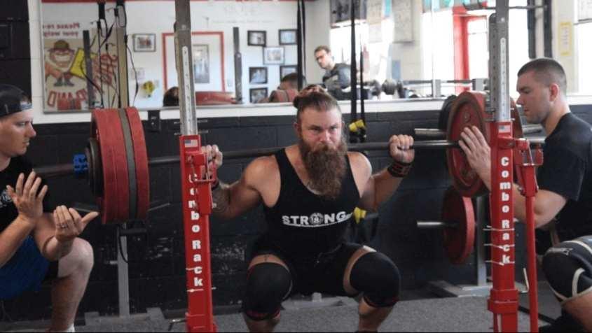 430 Squat by Team stronger Reid England