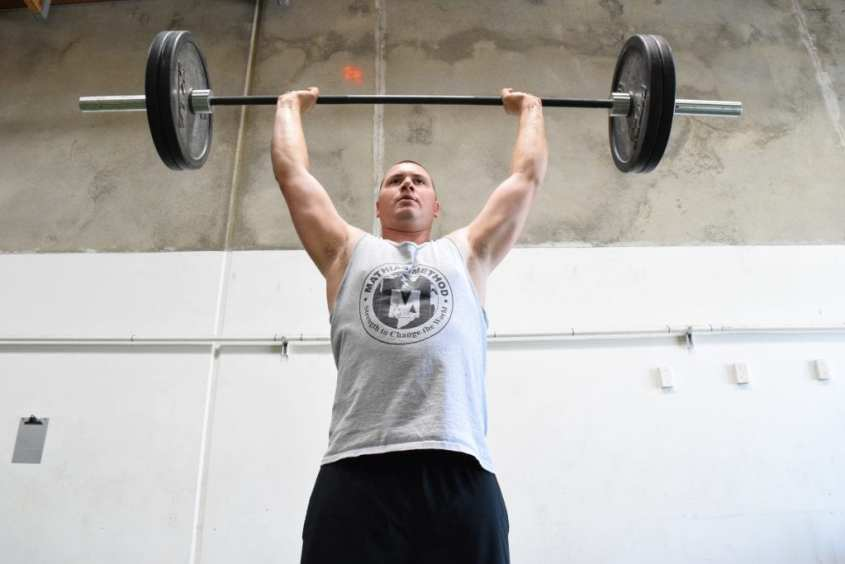 225 shoulder overhead military press