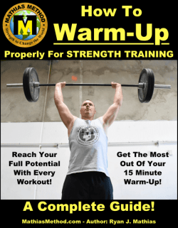how to warm-up properly for strength training book