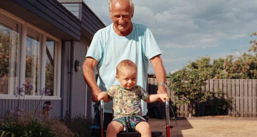 old man with child