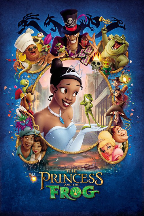 "Poster for the movie ""The Princess and the Frog"""