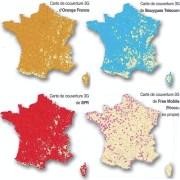 Cartes des couvertures 3G par opérateurs - Octobre 2012
