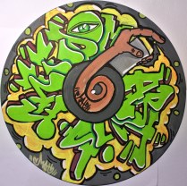 paint markers on a vinyl .